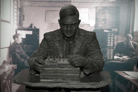 Alan Turing Sculpture © Christian Payne