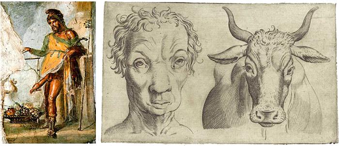 слева направо: Приап; иллюстрация изтруда...