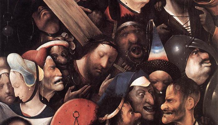 Иероним Босх. Фрагмент картины «Христос, несущи...