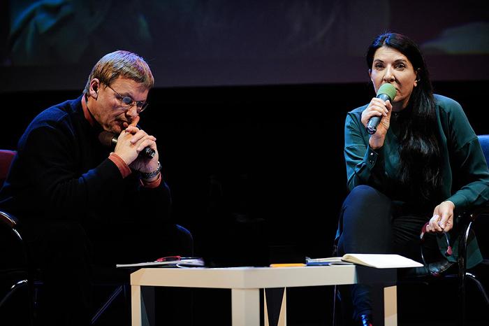 Константин Анохин иМарина Абрамович на&nb...