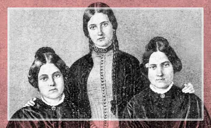 Сестры Кейт (1837-1892), Маргарет (1833-1893) и...