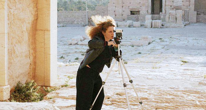 Мануэла Морген вовремя съемок фильма