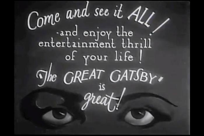Афиша первой экранизации «Великого Гэтсби» 1926...