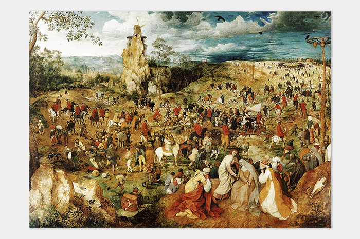 Брейгель, «Шествие наГолгофу»