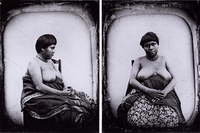 Э. Тьессон Индианка племени ботокудо. Дагеротип...
