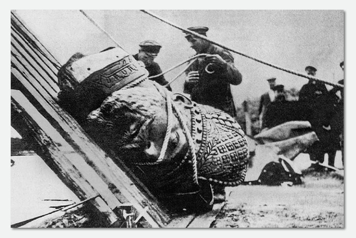 Снос памятника Александру III. 1918