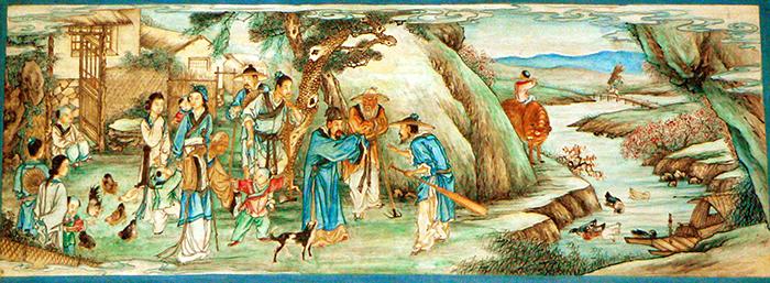«История оцветении персикового дерева»