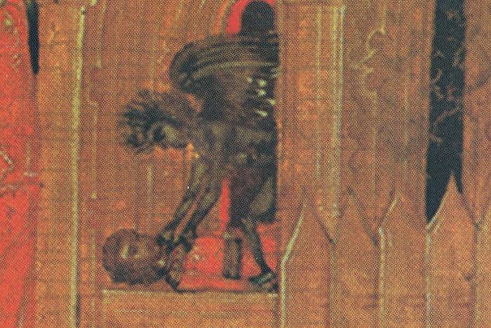 Убиение юноши Домна бесом, обитающим вбане