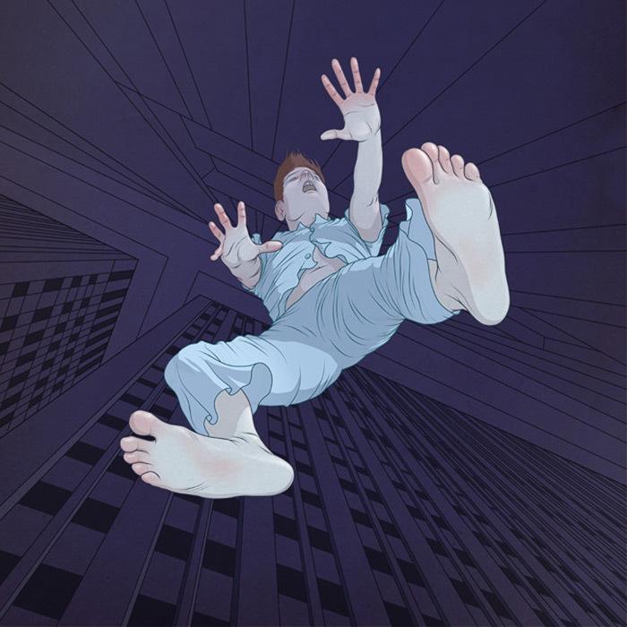 Картинки спящих упавших