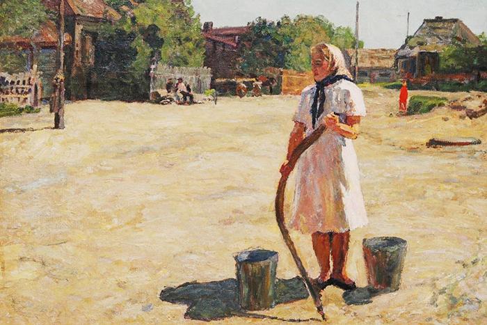 А. Белых «Летом», 1953