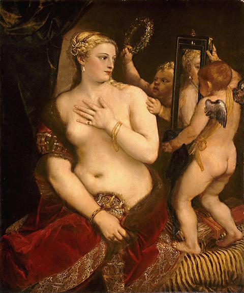 Тициан, «Венера сзеркалом», 1555.