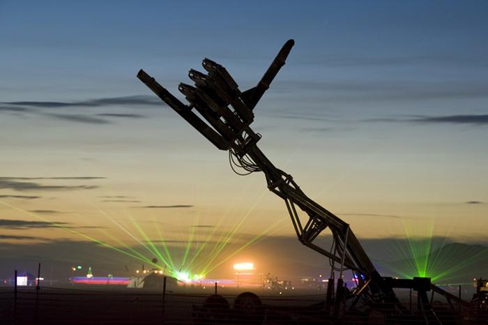 Hand of Man at Burning Man