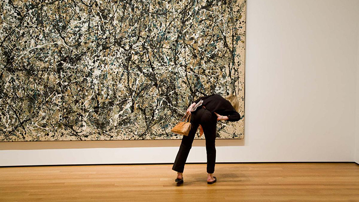 Jackson Pollock painting at MoMA