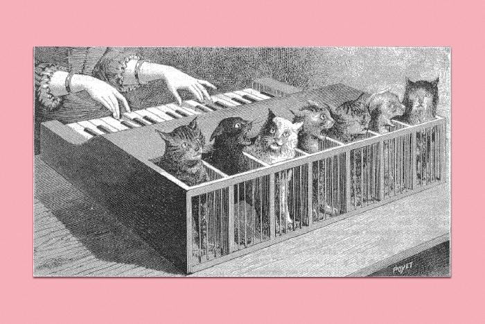 Кошачье пианино изжурнала La Nature (1883)