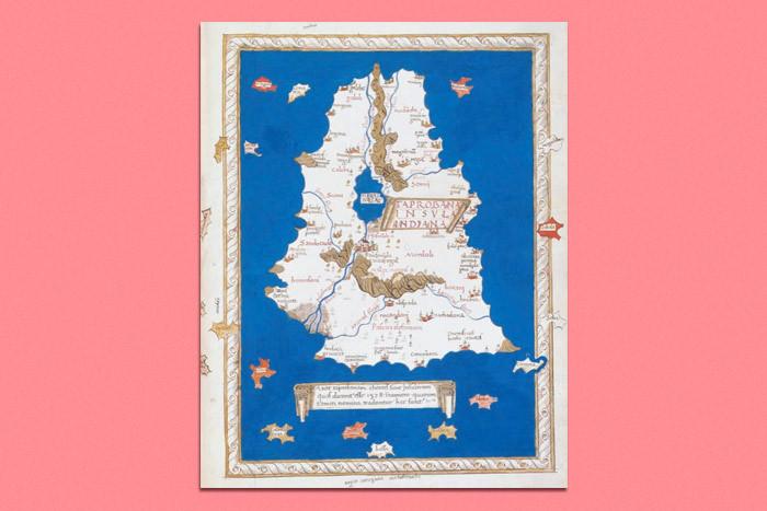 Henricus Martellus Germanus. Map of Ceylon