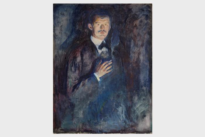 Эдвард Мунк, «Автопортрет ссигаретой»