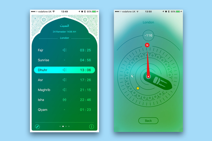 Приложение iPray: Prayer Times & Qibla Compass