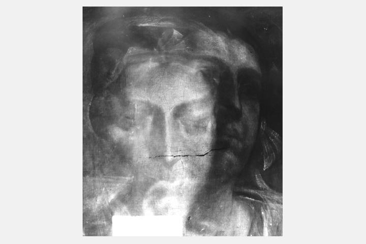 Картина Доссо Досси «Сивилла». Рентген показыва...
