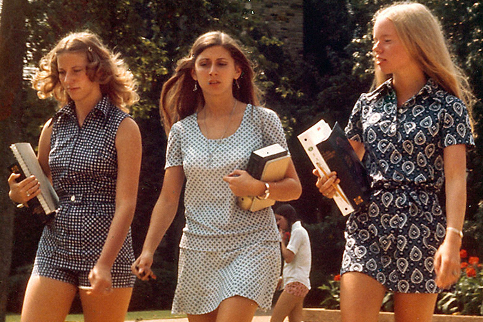 Первокурсницы Университета Теннесси, 1973...