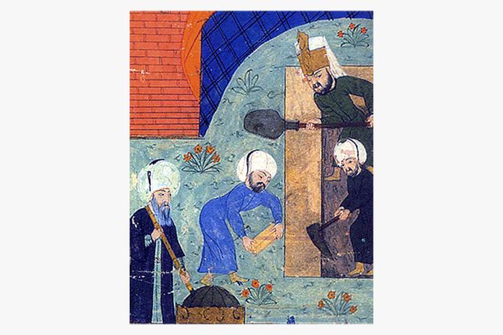 Архитектор Мимар Синан (вероятно, слева изображ...