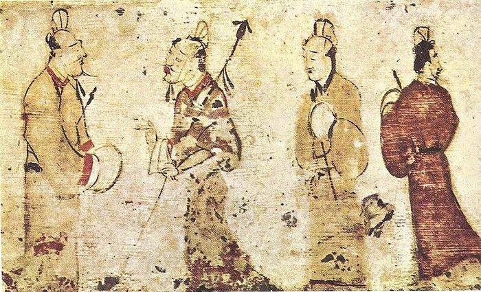 Мужчины забеседой, Поздняя Хань