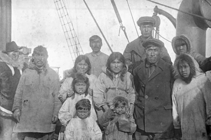 Жители острова Врангеля, 1924год. Wikimed...