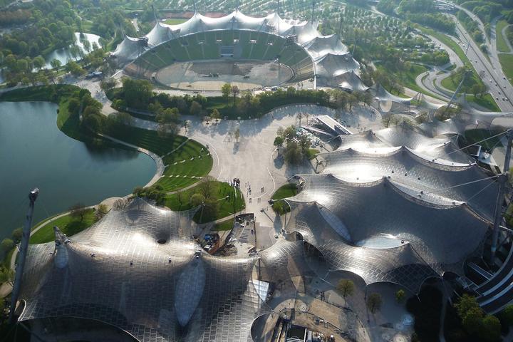 Фрай Отто, Олимпийский стадион вМюнхене ©...