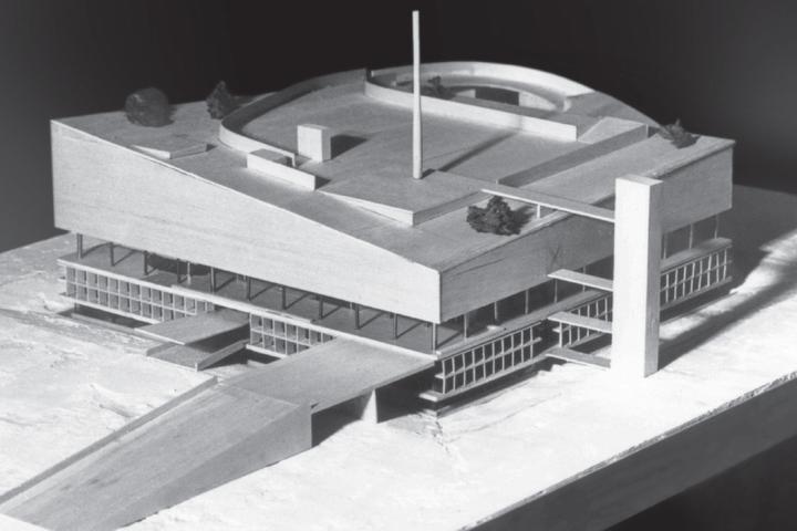 Ле Корбюзье, макет Дворца конгрессов, Страсбург...