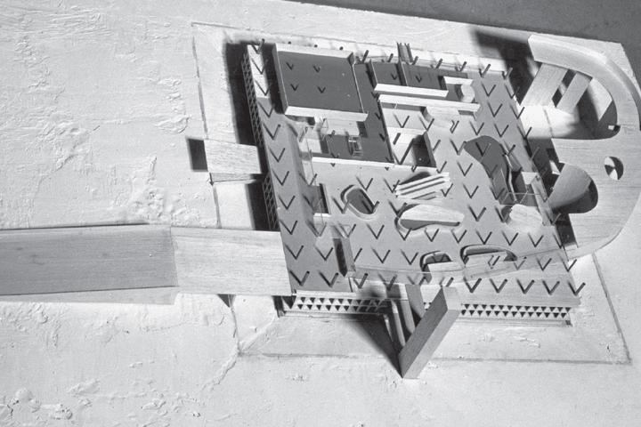 Дворец конгрессов вСтрасбурге, макет, 1962