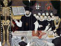 Урок анатомии Джона Баннистера, ок. 1580