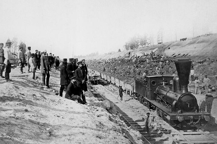 Строительство железной дороги кновому Сви...