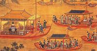Император Цзяцзин набарже. 1538год ...