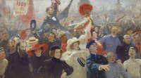 Илья Репин, «Манифестация 17 октября 1905...