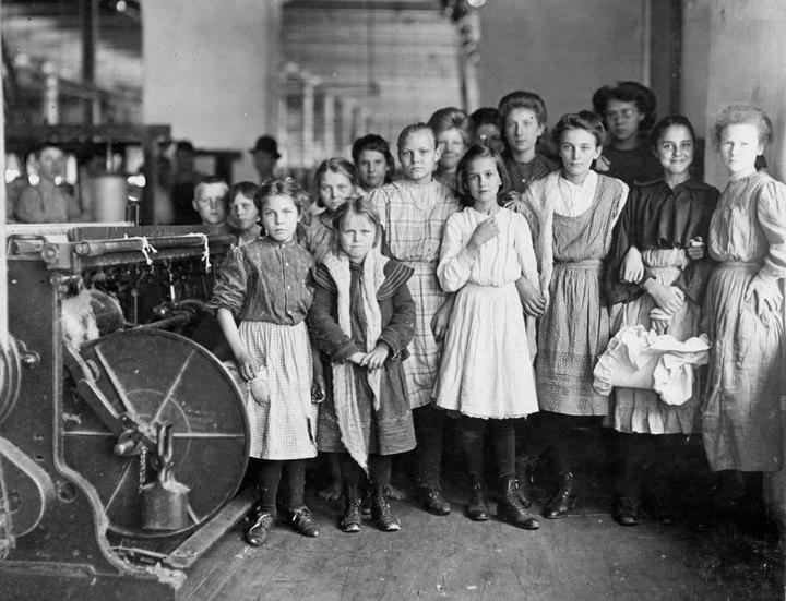 Работницы текстильной фабрики вНьюберри, ...