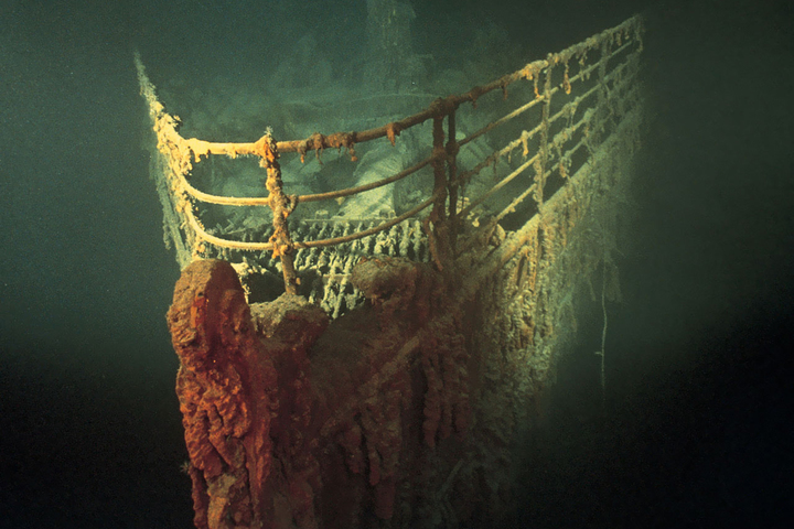 Нос затонувшего «Титаника» © Emory Kristof / Na...