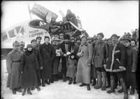 Прилет вГалич первого самолета, 1925&nbsp...