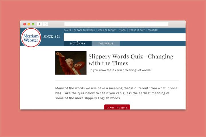 Проверка T&P: угадайте, что означали популярные английские слова в прошлой жизни