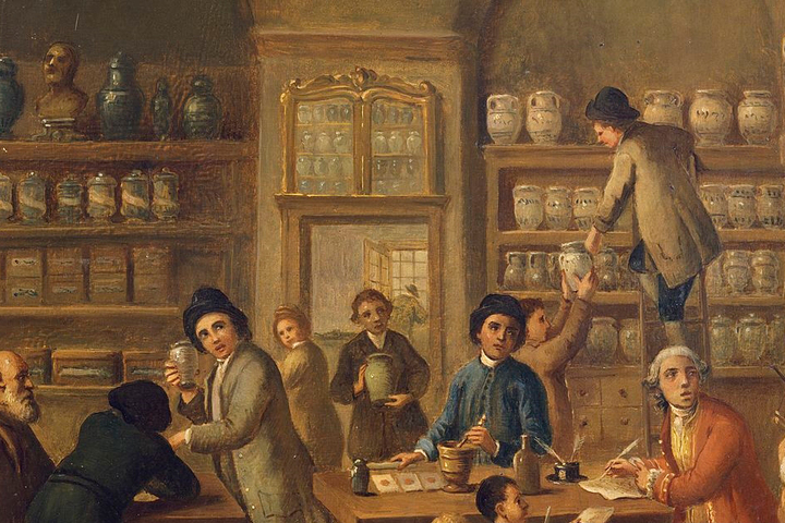 Аптека вРиме, XVIII век