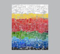 Мозаика изэлементов флагов, которые диза...
