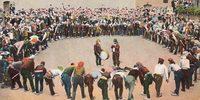 Сельский танец лазов. Трабзон, Турция. Фрагмент...