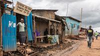 Найроби. Трущобы впригородном районе Кибе...
