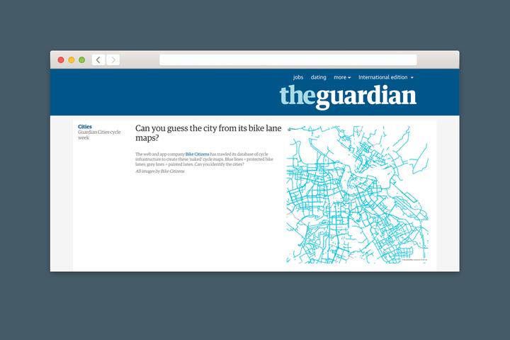 Проверка T&P: угадайте город по карте велодорожек