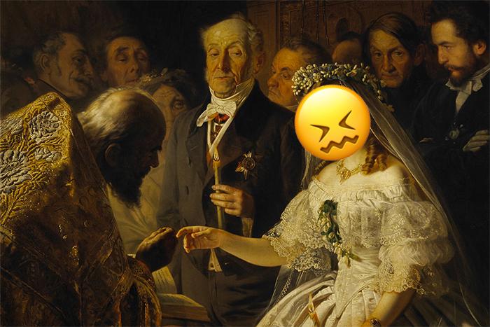 © «Неравный брак», Василий Пукирев (1862), фраг...