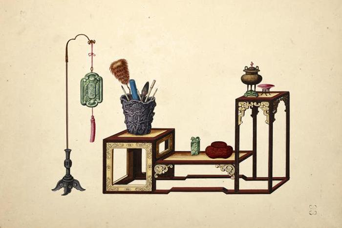 Изколлекции китайской акварели The Miriam...