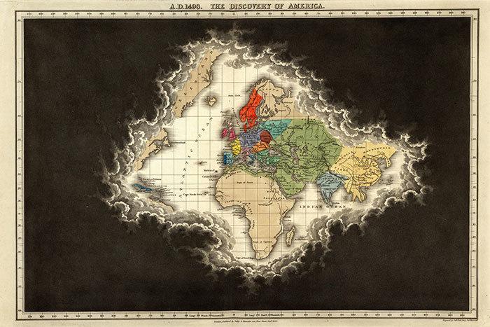 Находка T&P: всемирная история на картах прошлых веков