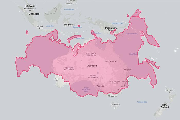 Находка T&P: интерактивная карта мира, на которой показаны настоящие размеры стран