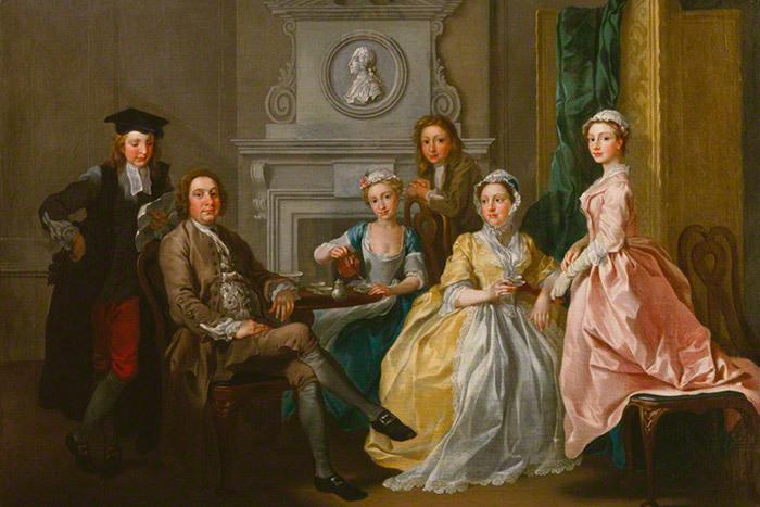 Джонатан Тайерс иего семья. Картина Фрэнс...