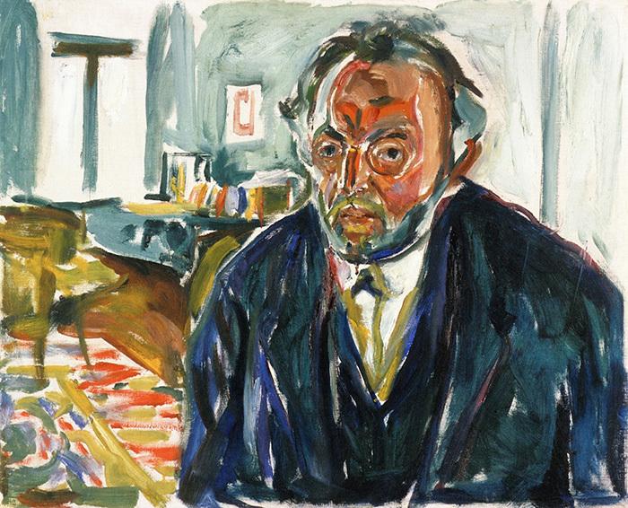 Эдвард Мунк. Автопортрет после «испанки». 1919&...