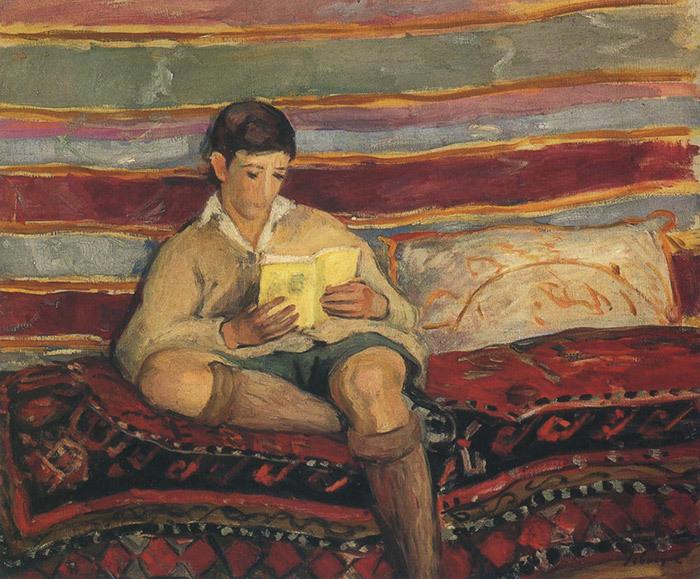 Анри Лебаск. Читающий мальчик. Конец XIX века
