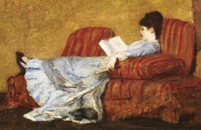 Мэри Кэссэт. Девушка зачтением. 1878&nbsp...